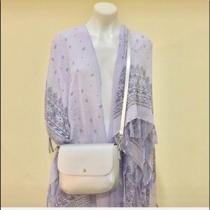 Silver  shoulder/crossbody flap bag